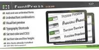 Font fontpress manager plugin