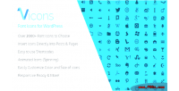 Font vicons wordpress for icons