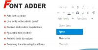 Font wp adder
