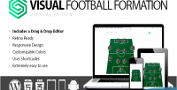 Football visual edition vertical formation