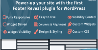 Footer footr reveal wordpress for plugin