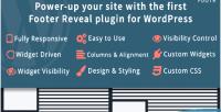 Footer footr reveal wordpress for plugin
