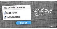 For sociology wordpress poster facebook twitter