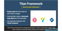 Framework titan shortcode extension