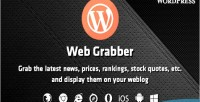 Grabber web wordpress plugin scraping html