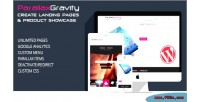 Gravity parallax builder page landing