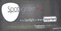 Guide spotlighter the attention. s user