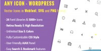 Icon any wordpress