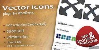 Icons vector for wordpress