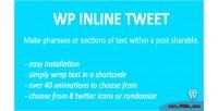 Inline wp tweet