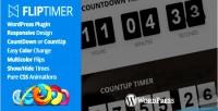 Jquery fliptimer countdown plugin wordpress timer