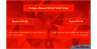 Keywords wordpress to package tooltip link