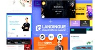 Landing landingue & one builder page plugin site wordpress for