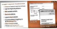Layout login customize