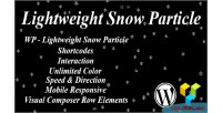 Lightweight wp snow particle