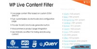 Live wp content filter