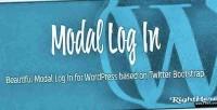 Log modal wordpress for in