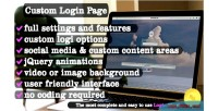 Login custom wordpress for page