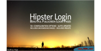 Login hipster fullscreen page login wordpress