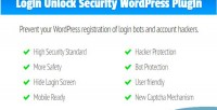 Login lus unlock security for wordpress modern a & safe captcha word for slide