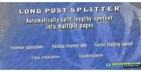 Long wordpress post splitter