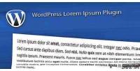 Lorem wordpress ipsum plugin
