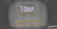 Make titler. your awesome. relevant titles