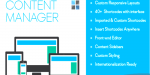 Manager content for wordpress