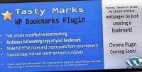 Marks tasty plugin bookmarks wp