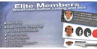 Elite members wordpress author box & listing