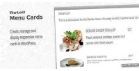 Menu retail wordpress for cards