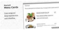 Menu retail wordpress for cards