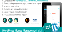 Menus wordpress management