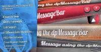 Message wordpress bar
