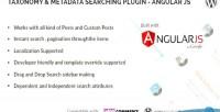 Metadata taxonomy searching js angular plugin