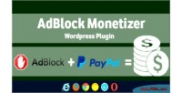 Monetizer adblock wordpress plugin