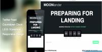 Moonlander wp responsive page landing countdown