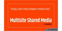 Multisite wordpress shared media