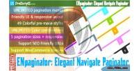 Navigate elegant wordpress for paginator