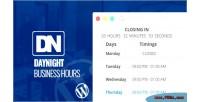 Night day business plugin wordpress hours