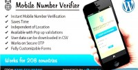 Number mobile plugin wordpress verifier
