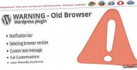 Old warning plugin wordpress browser
