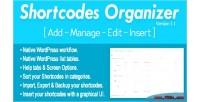 Organizer shortcodes