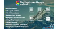Page blog layout wordpress for manager