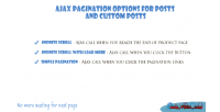 Pagination ajax infinite posts for scroll
