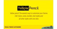 Pencil yellow customizer theme visual