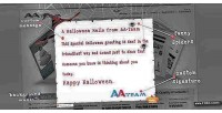 Pop halloween up plugin wordpress card