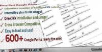 Post easy google fonts