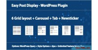 Post easy plugin wordpress display