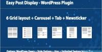 Post easy plugin wordpress display